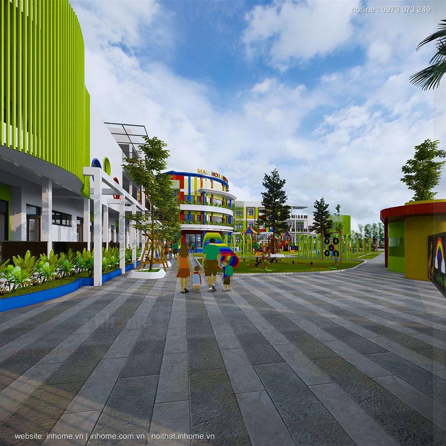 Thiết kế trường mầm non Anh Việt-Lạng Sơn