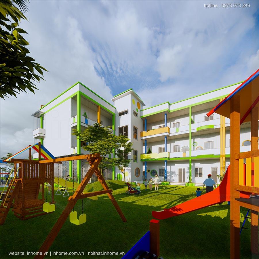Thiết kế trường mầm non Kid's World Nam Định