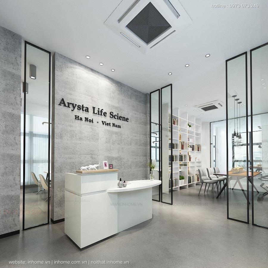Thiết kế nội thất văn phòng ArySta