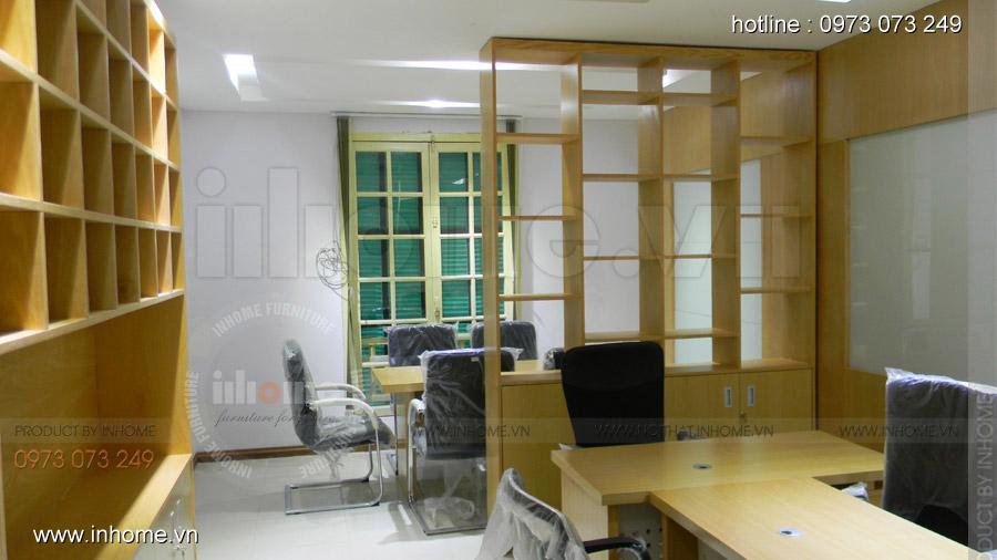 Thi công nội thất văn phòng khoa QTKD trường Kinh Tế Quốc Dân
