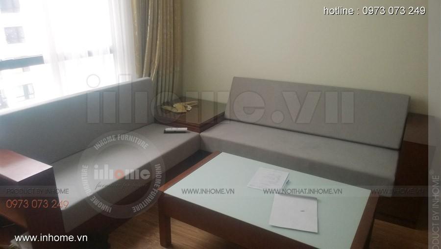 Thi công nội thất sofa gỗ, kệ tivi, Anh Đức, Times City