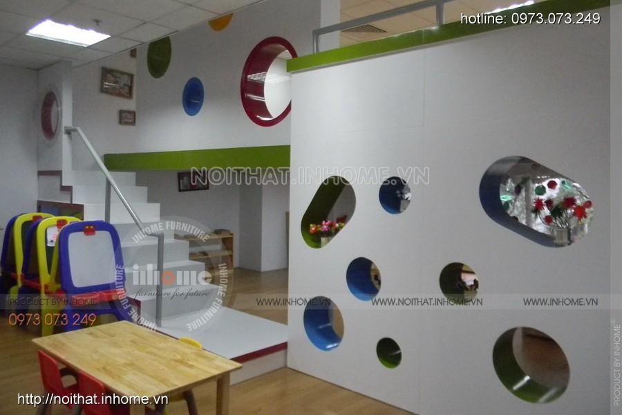 Thiết kế, thi công nội thất trường mầm non quốc tế Mỹ (Royal City)