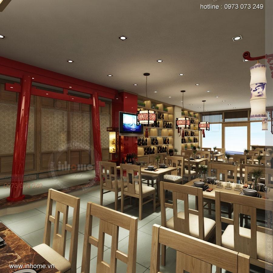 Thiết kế nhà hàng nhật Kaminuma 01