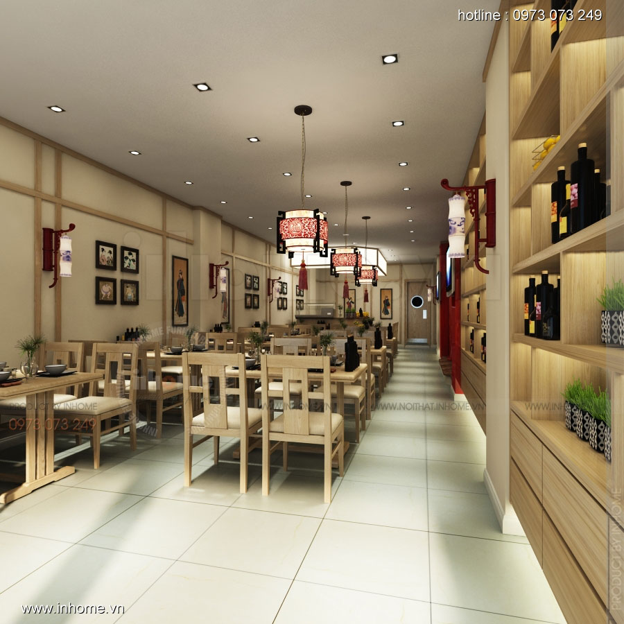 Thiết kế nhà hàng nhật Kaminuma 03