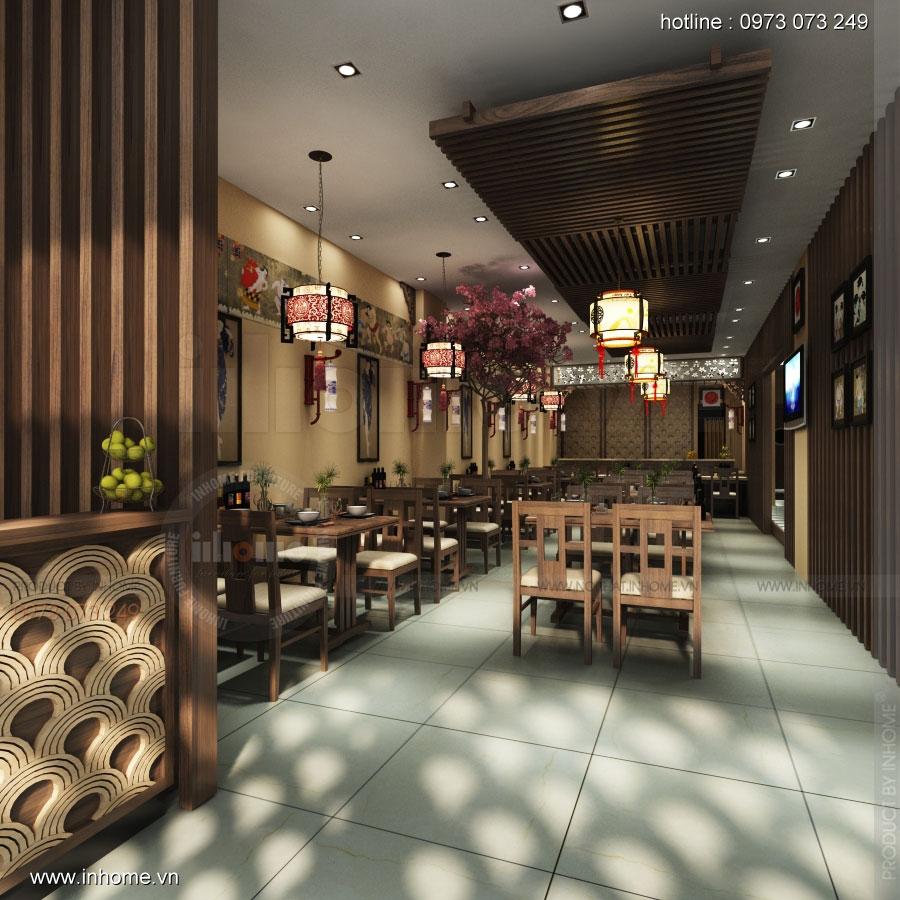 Thiết kế nội thất nhà hàng Nhật Bản 01
