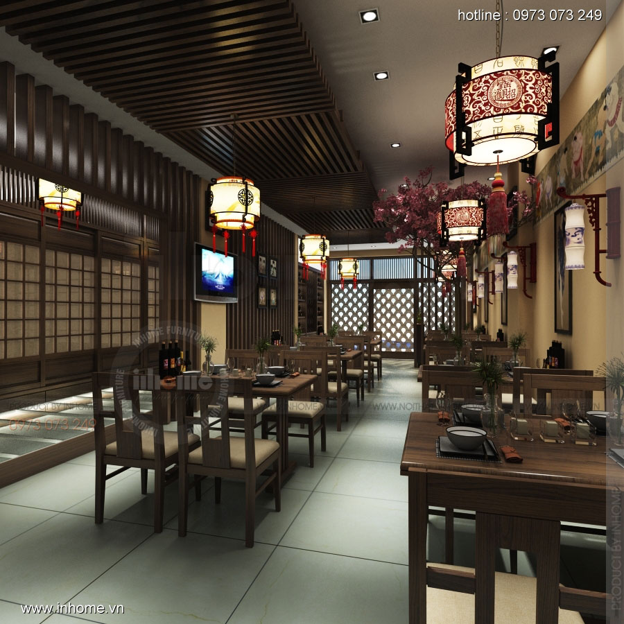 Thiết kế nội thất nhà hàng Nhật Bản 02