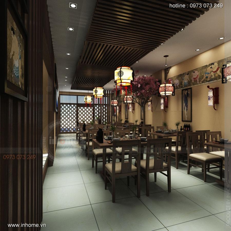 Thiết kế nội thất nhà hàng Nhật Bản 03