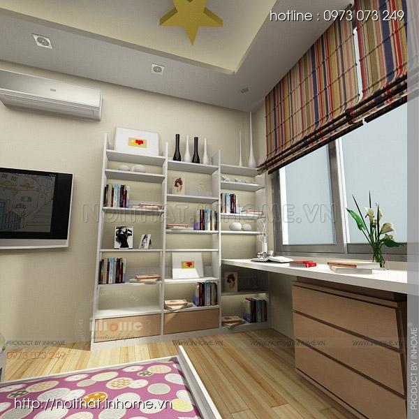 Thiết kế nội thất chung cư Huyndai Hillstate 09