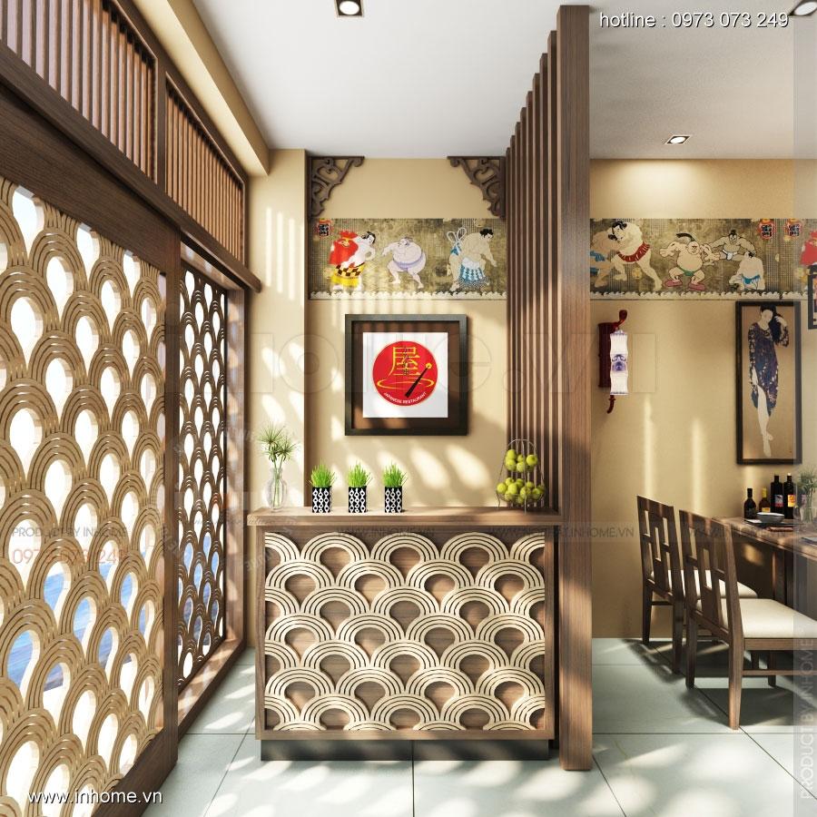 Thiết kế nội thất nhà hàng Nhật Bản 04