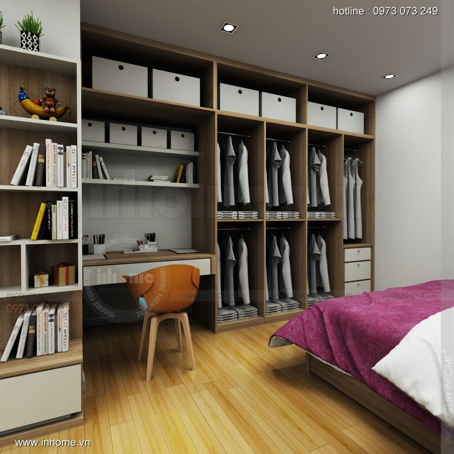 Thiết kế nội thất phòng ngủ nhà chị Vân phố Bà Triệu