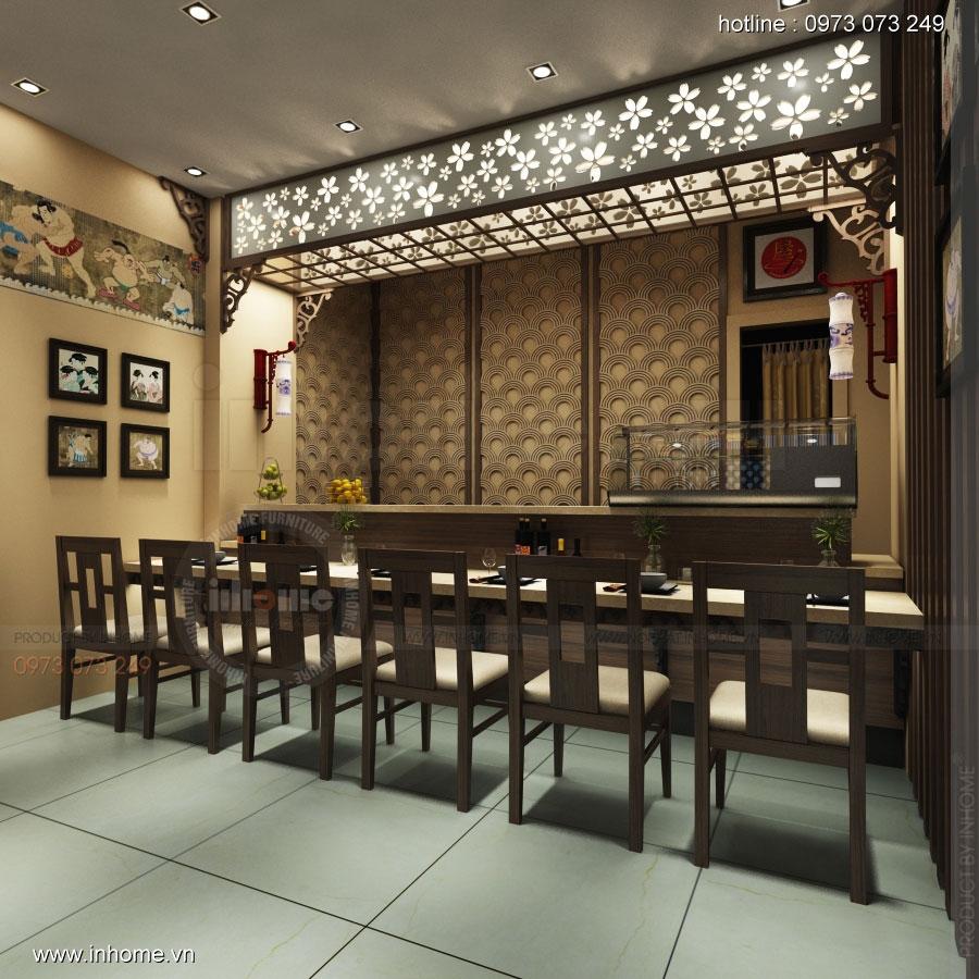 Thiết kế nội thất nhà hàng Nhật Bản 06