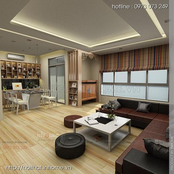 Thiết kế nội thất chung cư Huyndai Hillstate 03