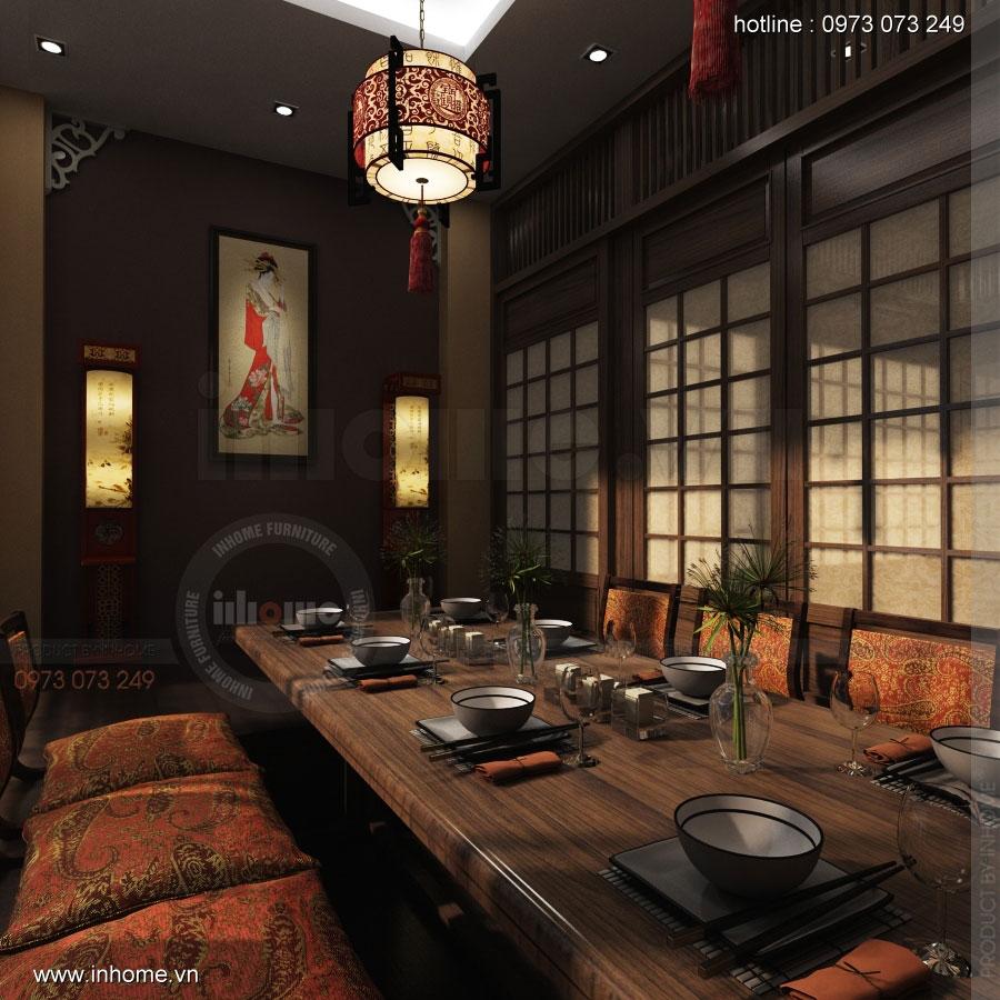 Thiết kế nội thất nhà hàng Nhật Bản 11