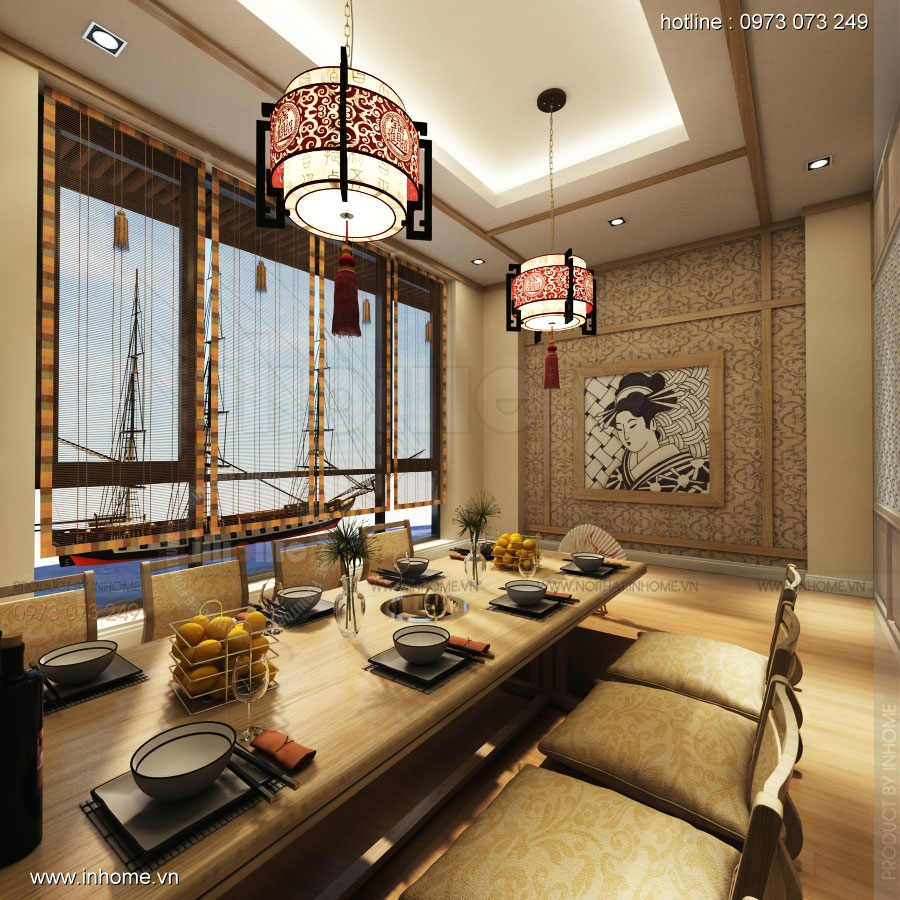 Thiết kế nhà hàng nhật Kaminuma 12