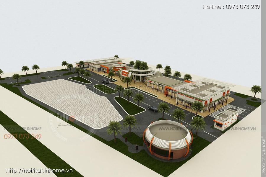 Thiết kế kiến trúc Attapeu Plaza 01