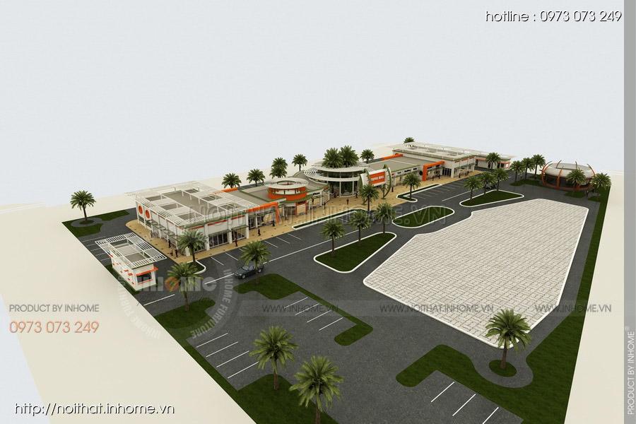 Thiết kế kiến trúc Attapeu Plaza 02