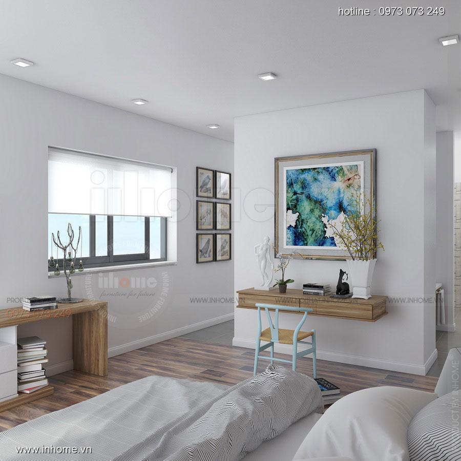Thiết kế nội thất Biệt thự Ecopark: Phòng ngủ sang trọng