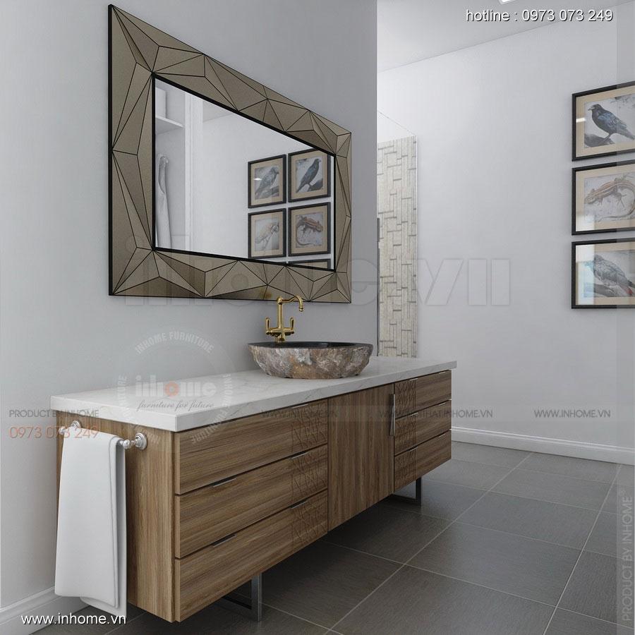 Thiết kế nội thất Biệt thự Ecopark: Phòng tắm sang trọng
