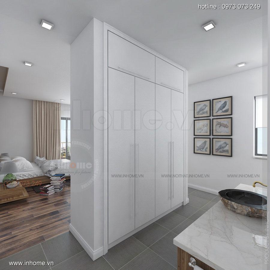 Thiết kế nội thất Biệt thự Ecopark: Phòng ngủ đẹp