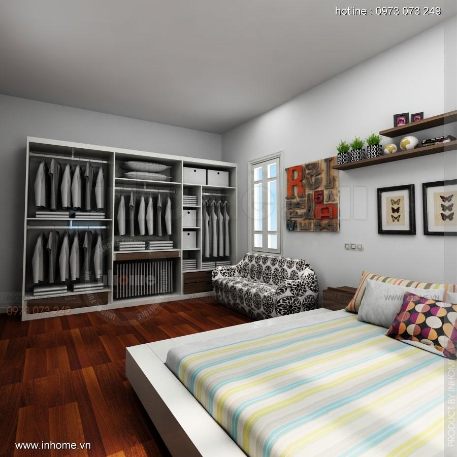 Thiết kế nội thất phòng ngủ không gian nhỏ 02