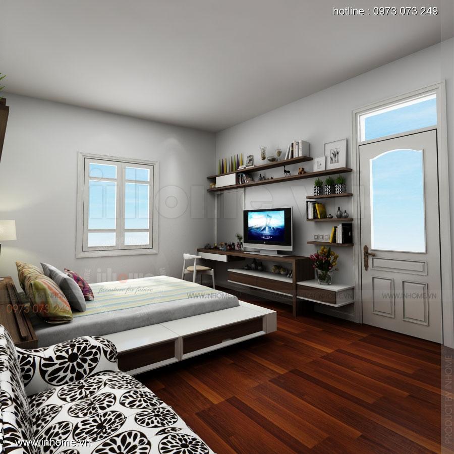 Thiết kế nội thất phòng ngủ không gian nhỏ 04