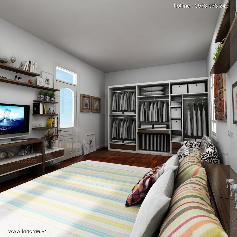 Thiết kế nội thất phòng ngủ không gian nhỏ 05