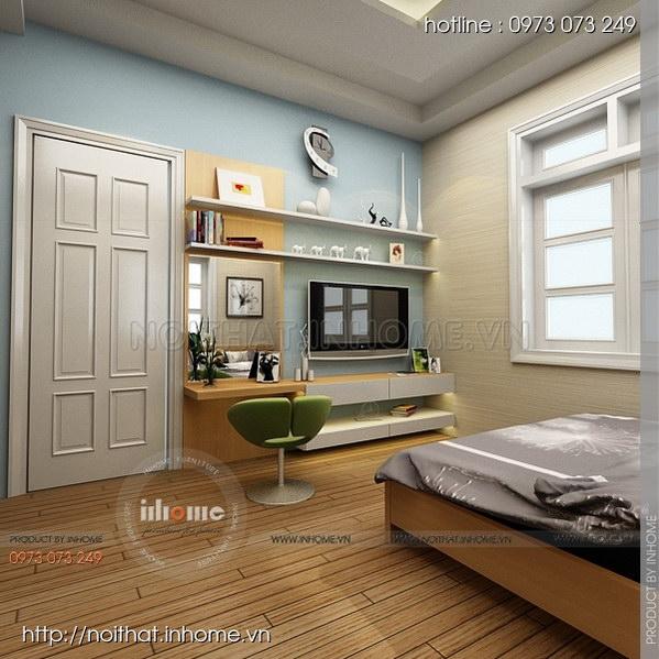 Thiết kế nội thất nhà chia lô Văn Quán 02