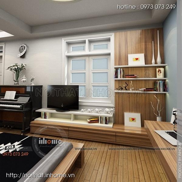 Thiết kế nội thất nhà chia lô Văn Quán 07