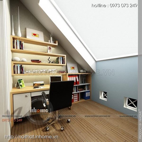 Thiết kế nội thất nhà chia lô Văn Quán 12