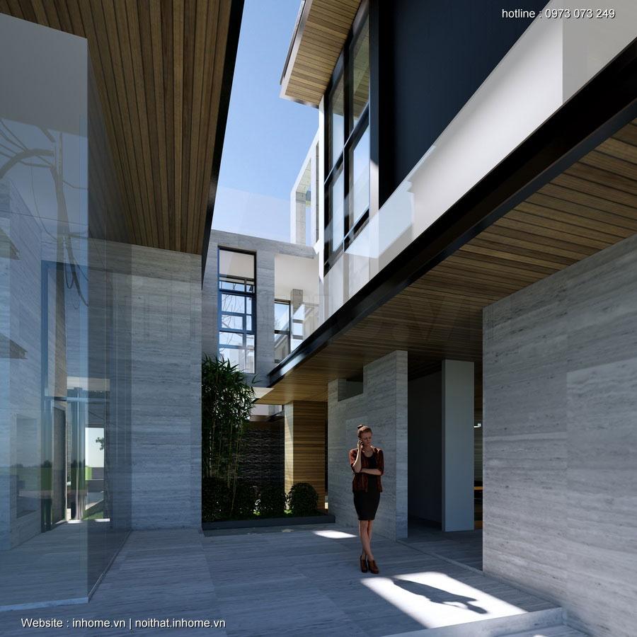 Thiết kế biệt thự cao cấp Hải Phòng với vườn và hồ bơi