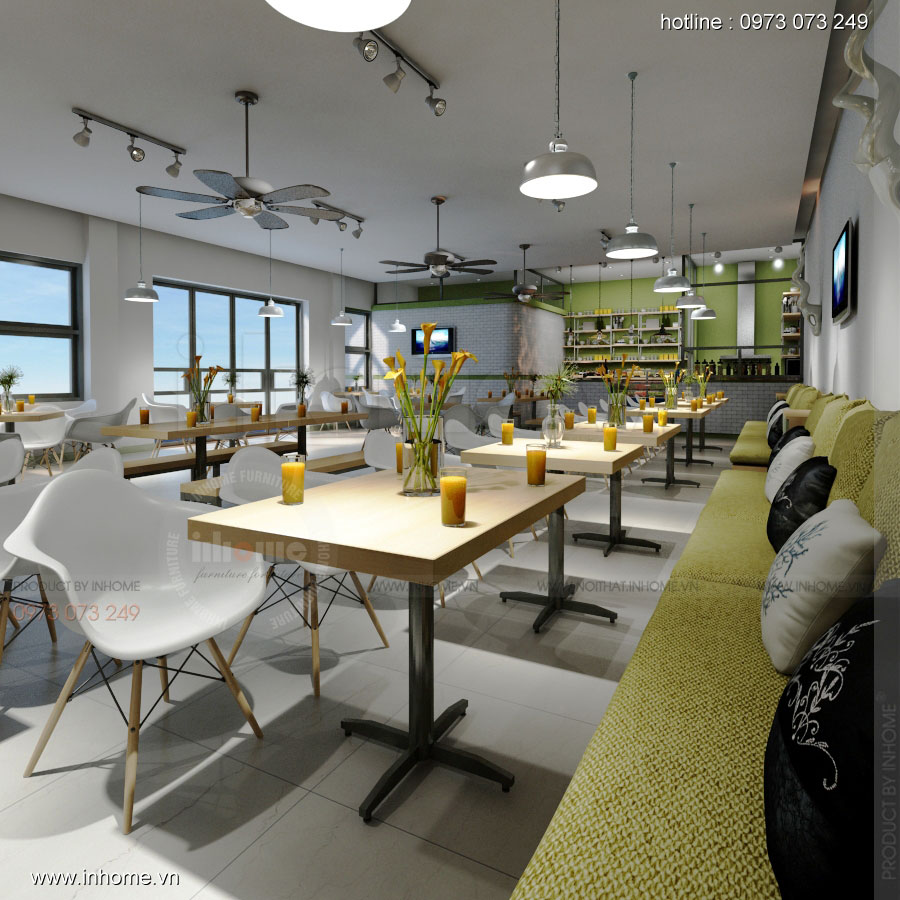 Thiết kế nội thất quán căng tin - The Green Box Cafe