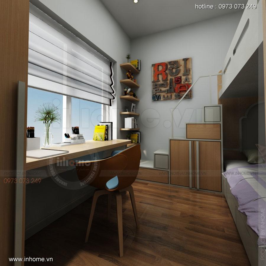 Thiết kế nội thất chung cư Đặng Xá 10