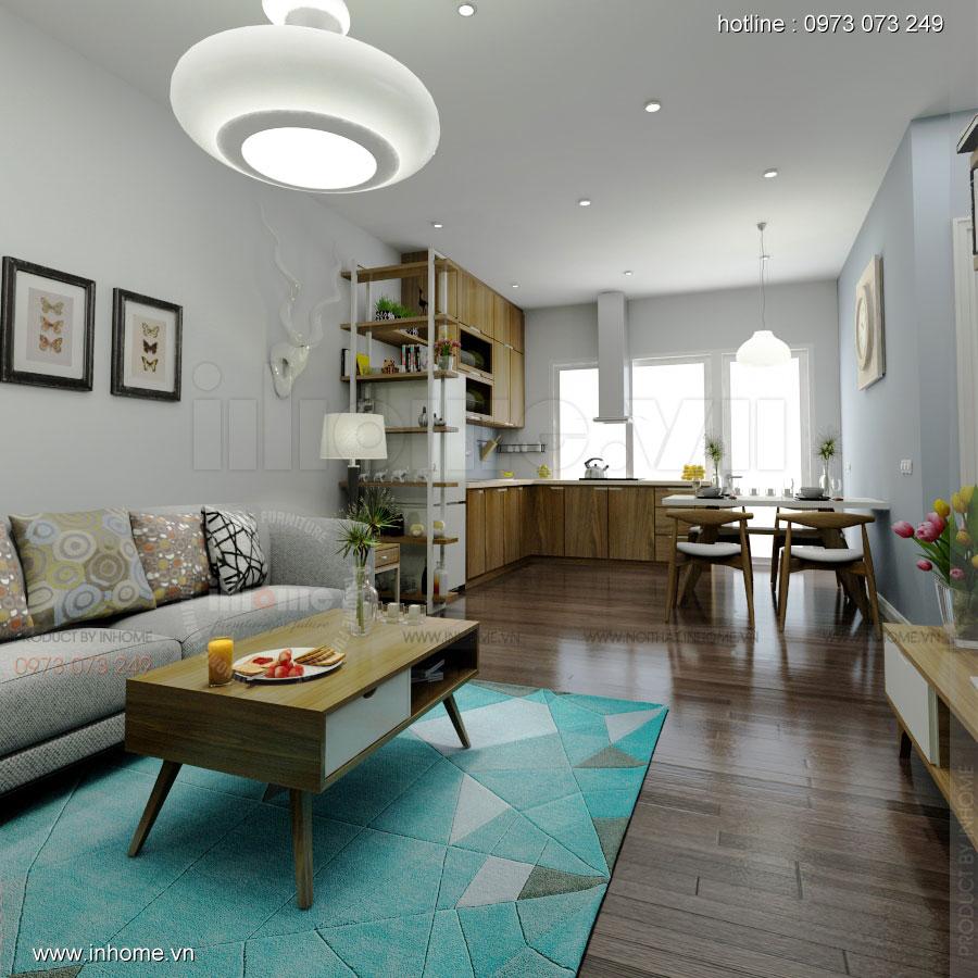 Thiết kế nội thất chung cư Linh Đàm 01