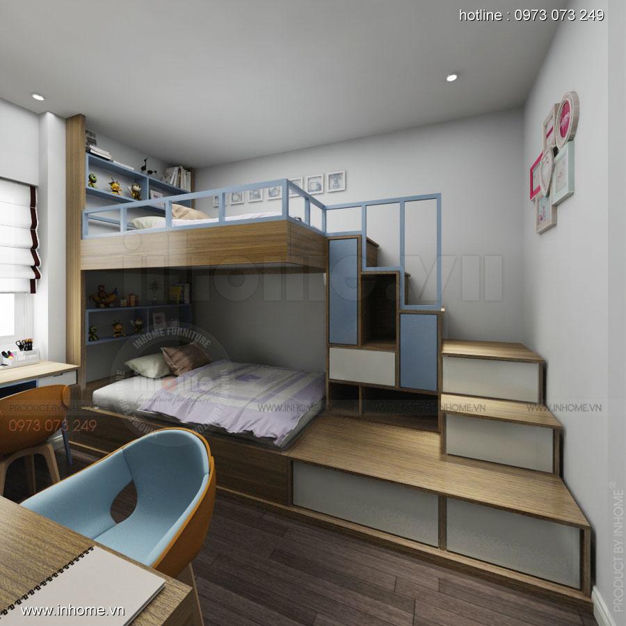 Thiết kế nội thất chung cư Linh Đàm 09