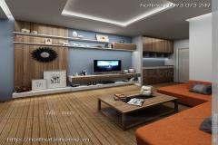 Thiết kế nội thất chung cư, Chị Hà CC Trường chinh