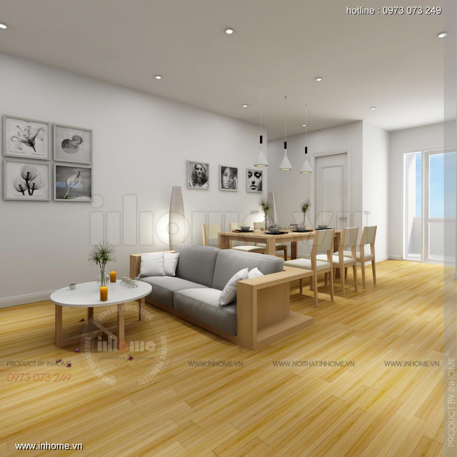 Thiết kế nội thất chung cư C14 Bộ Công An 02