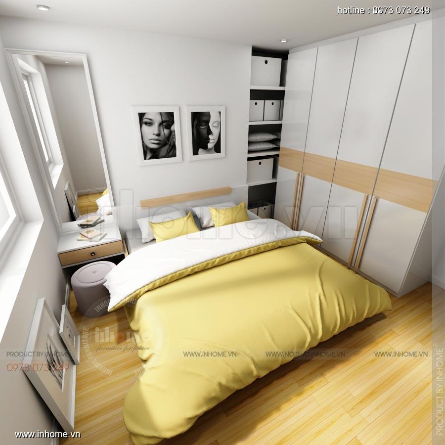 Thiết kế nội thất chung cư C14 Bộ Công An 04