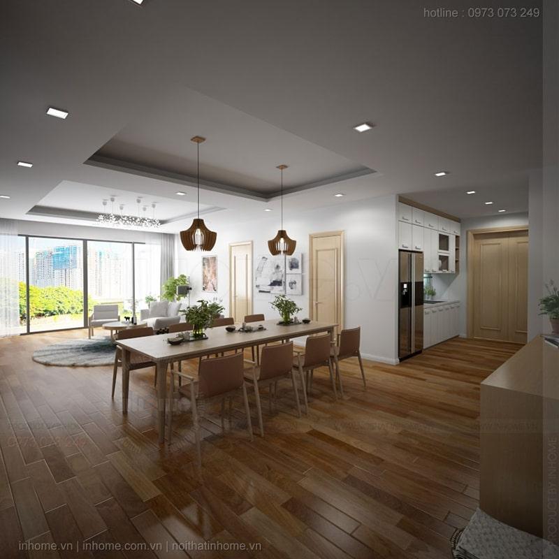 Tạo lập thiết kế nội thất chung cư 65m2 sao cho hiệu quả là mong muốn của mọi gia chủ