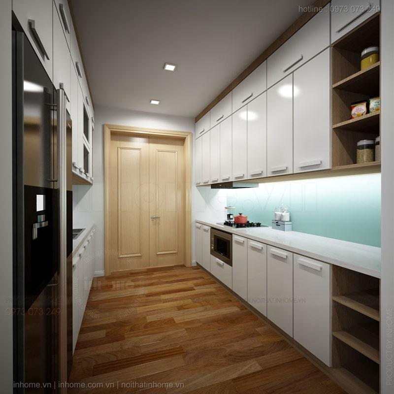 Thiết kế phòng bếp gọn gàng, tiện nghi