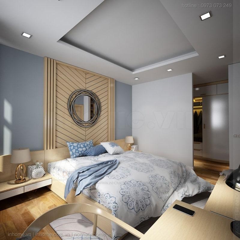 Tông màu sáng mang đến vẻ đẹp nhẹ nhàng, thanh tao cho phòng ngủ