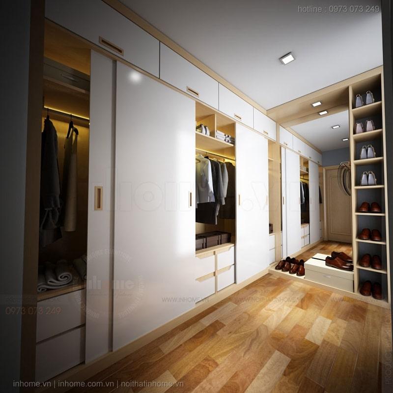 Một thiết kế tủ quần áo ấn tượng