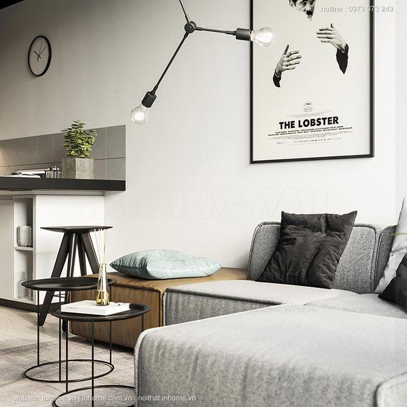 Top mẫu thiết kế nội thất chung cư 75m2 đẹp 01