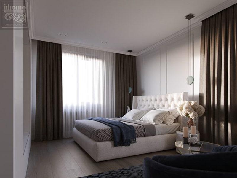 Không gian phòng ngủ trong mẫu thiết kế nội thất chung cư 75m2