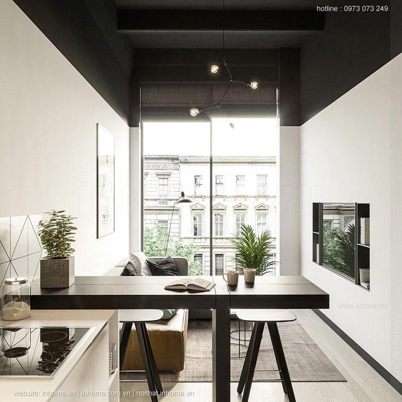 Top mẫu thiết kế nội thất chung cư 75m2 đẹp 04