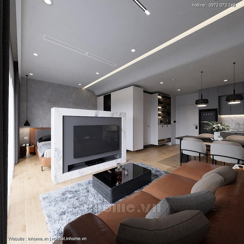 """Tính """"mở"""" được vận dụng triệt để trong thiết kế nội thất chung cư Green Star"""