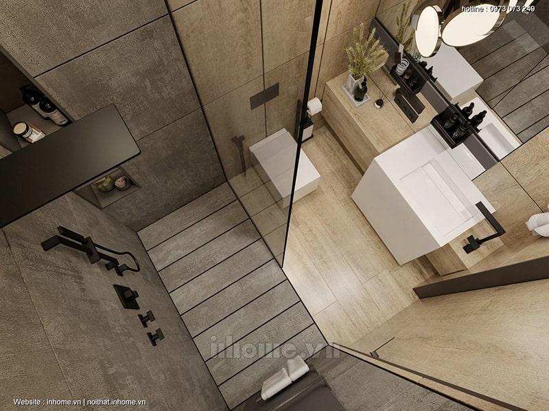 Thiết kế nội thất phòng vệ sinh chung cư Royal City