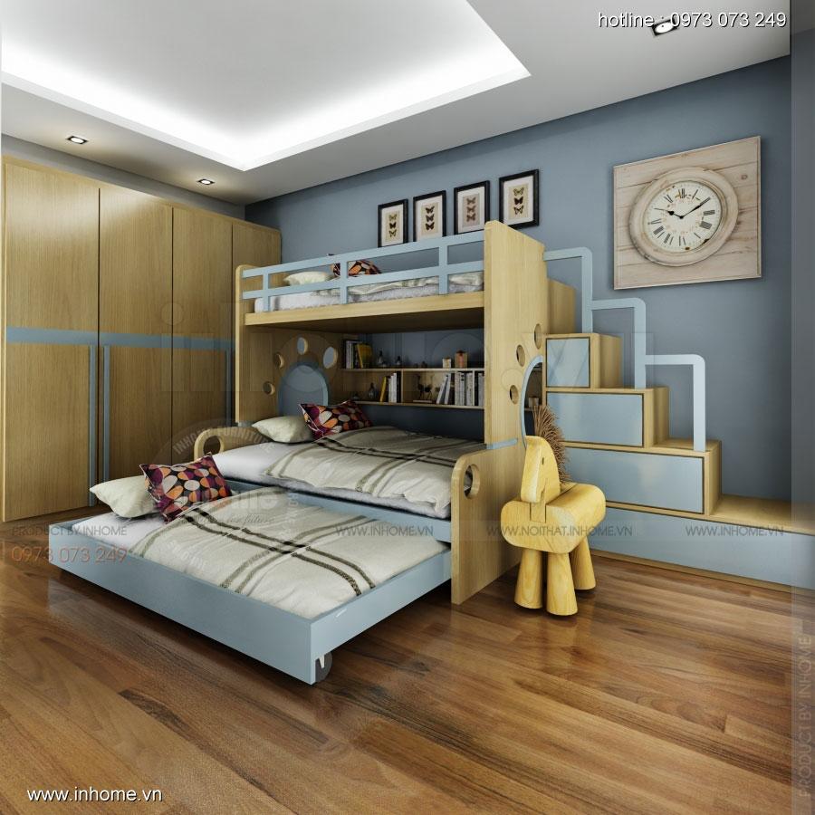 Thiết kế nội thất phòng ngủ trẻ em đẹp 01
