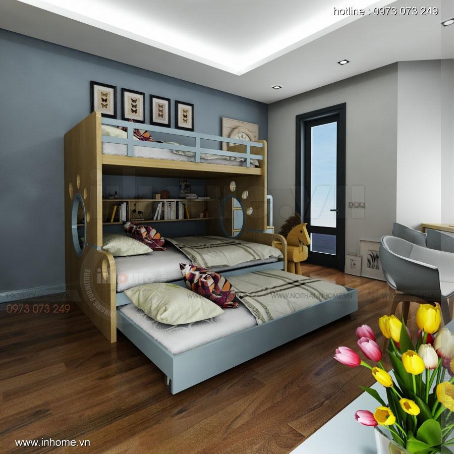 Thiết kế nội thất phòng ngủ trẻ em đẹp 02