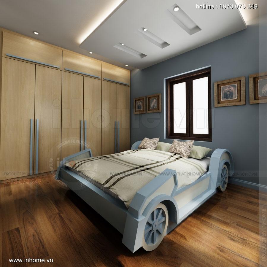 Thiết kế nội thất phòng ngủ nhà lô phố 06
