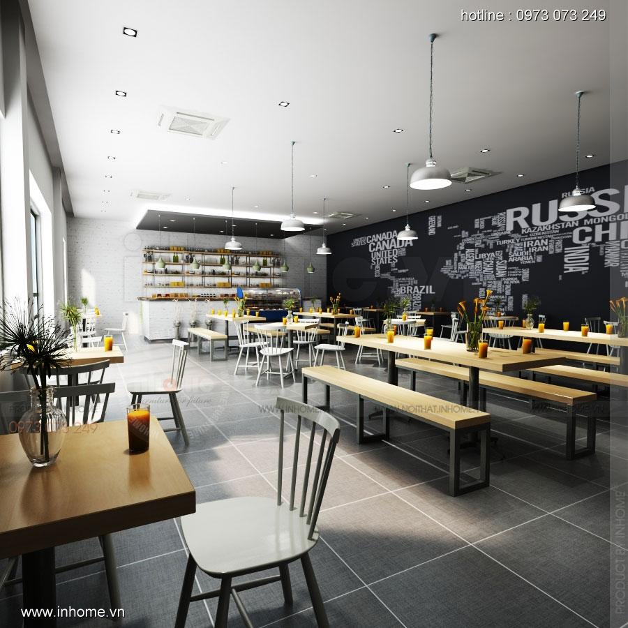 Thiết kế nội thất căng tin - The Green Box, Đại học Quốc Gia